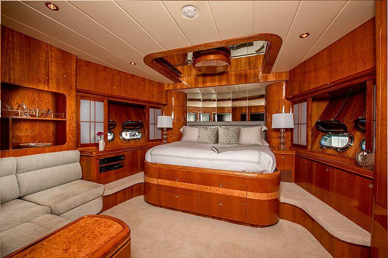 Triton motor yacht stateroom