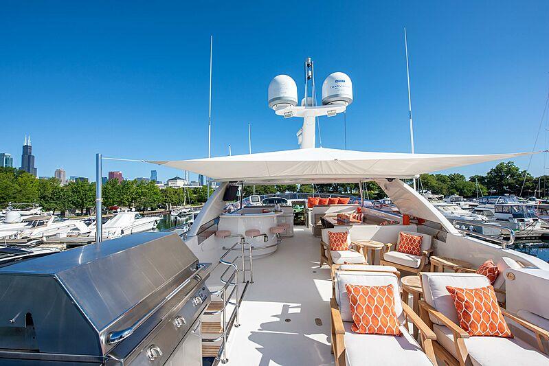 Triton motor yacht sun deck