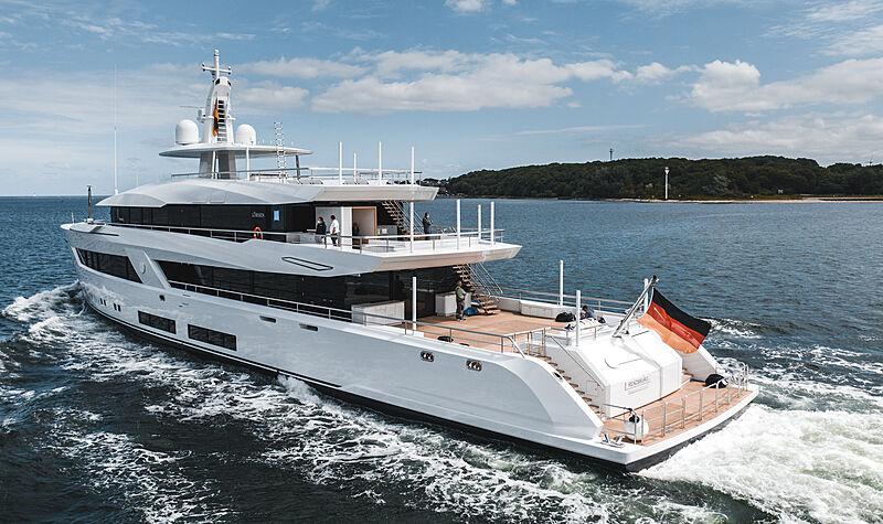 Project 13800 by Lürssen on sea trials