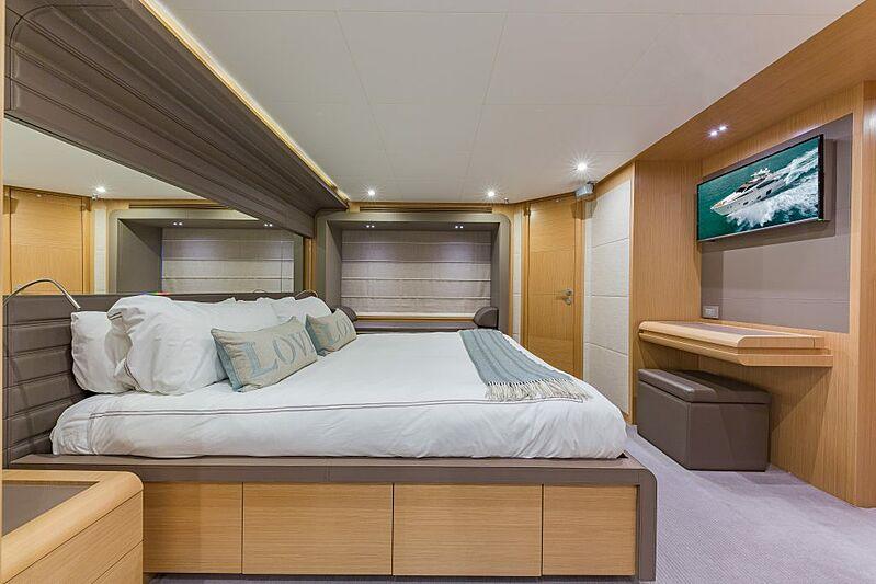 Evolution yacht stateroom