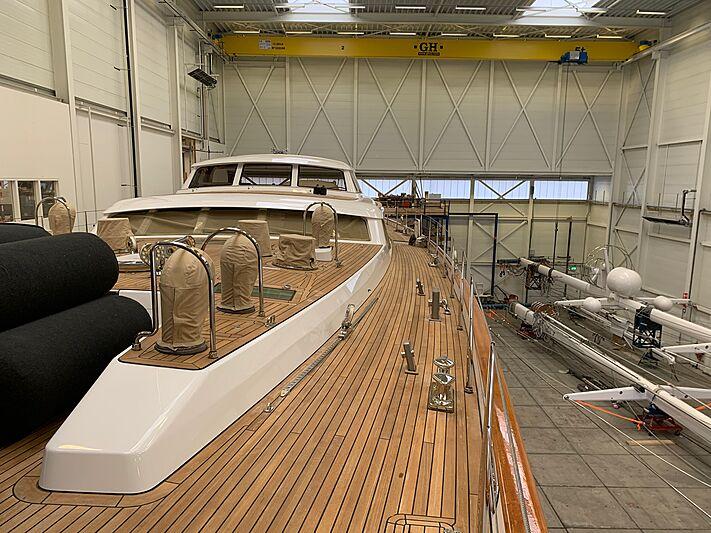 Juliet sailing yacht in refit