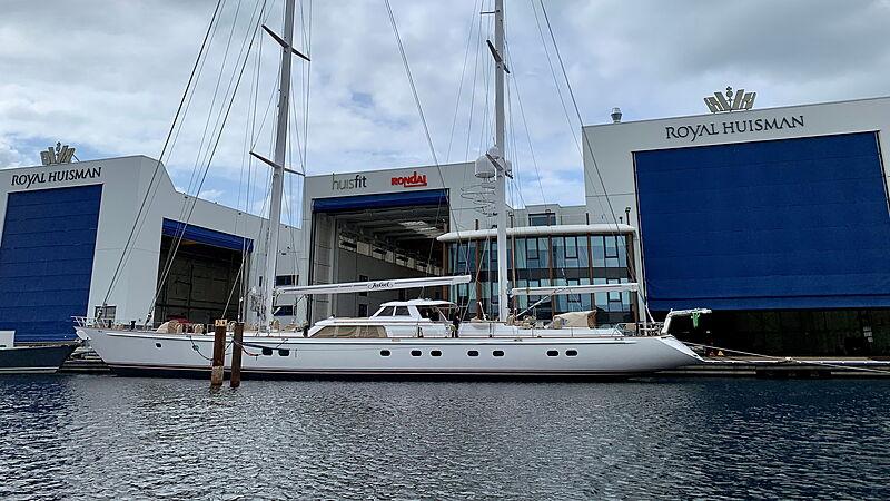 Juliet sailing yacht at Royal Huisman