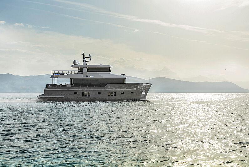 Bering Yachts B76 yacht exterior design