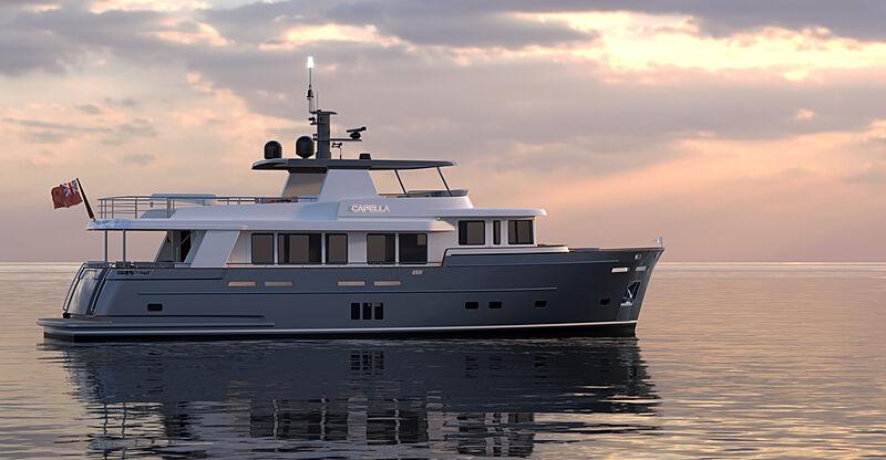 Capella yacht exterior design