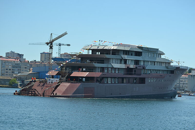 Freire 112m explorer yacht hull launch