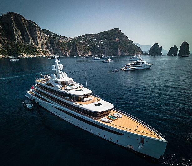 Viva yacht by Feadship in Capri, Italy