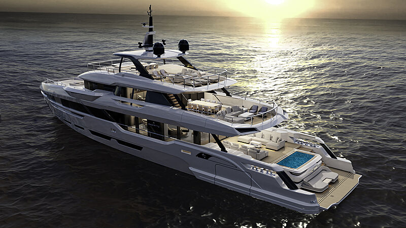 Baglietto DOM 133 yacht exterior design