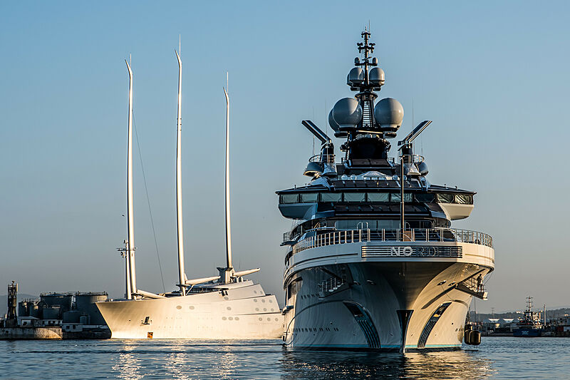 Nord and Sailing Yacht A in Gibraltar
