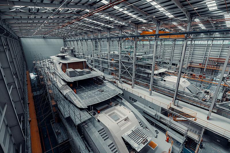 Bilgin 263 yachts in build at West Istanbul shipyard