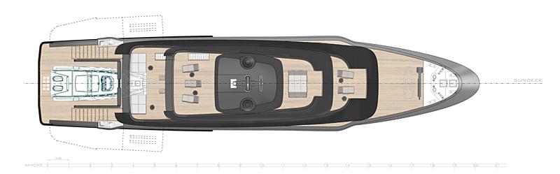 MSS 44M yacht general arrangement