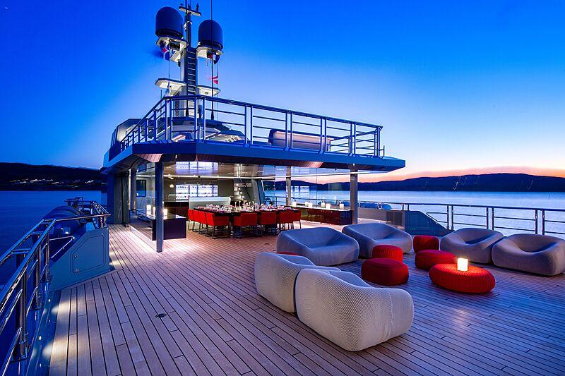 Bold yacht deck