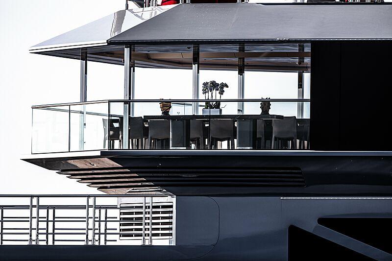 Bold yacht exterior detail