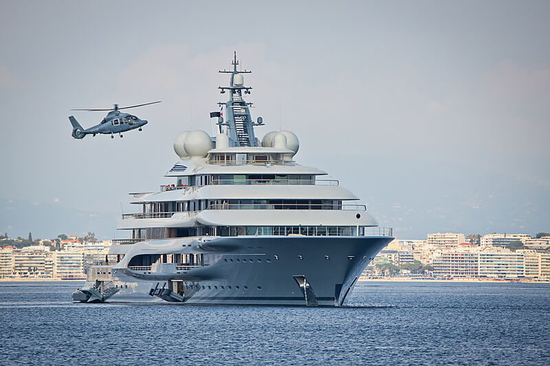 Flying Fox yacht anchored on the French Riviera
