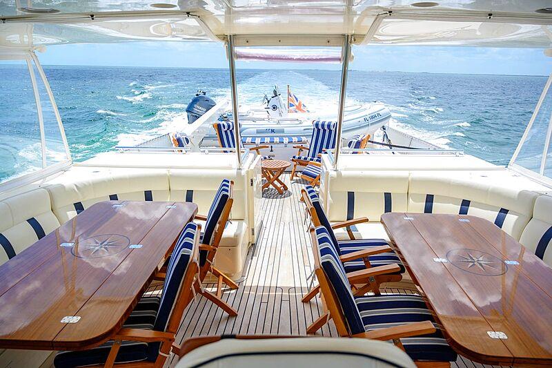 VK yacht aft deck