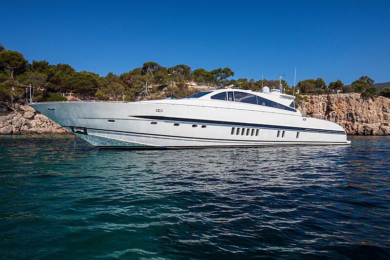 Cita yacht at anchor