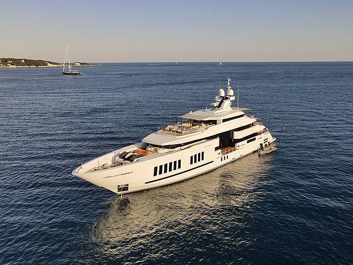Life Saga yacht at anchor in Antibes