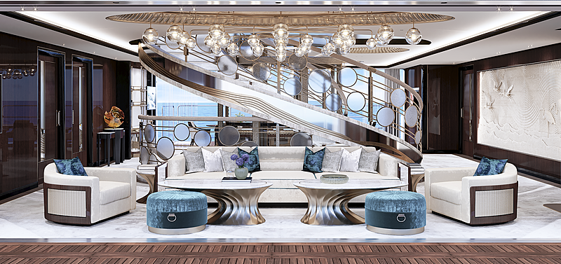 Vast 72m yacht concept by Christopher Seymour interior design