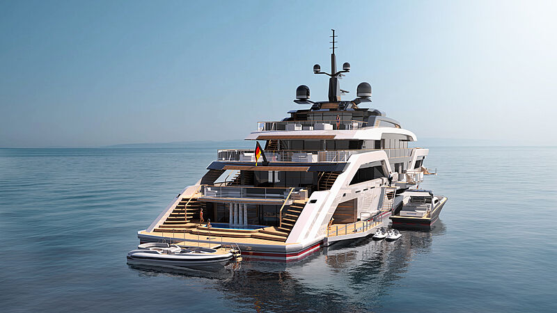 Vast 72m yacht concept by Christopher Seymour exterior design