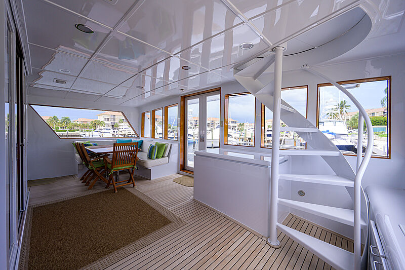 Aries yacht main deck