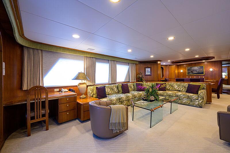 Aries yacht interior saloon