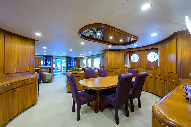 Aries yacht dining room
