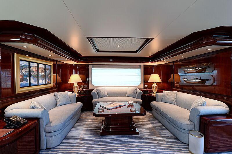 Shaf yacht lounge area