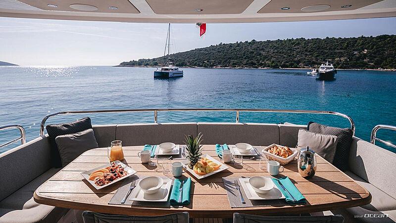 Mowana yacht aft deck