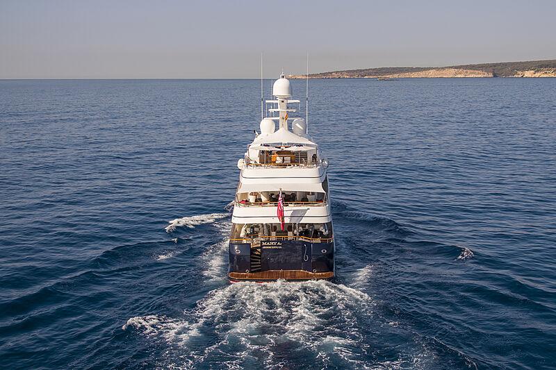 Mary A yacht cruising
