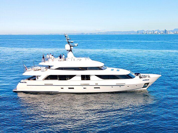 Au yacht anchored