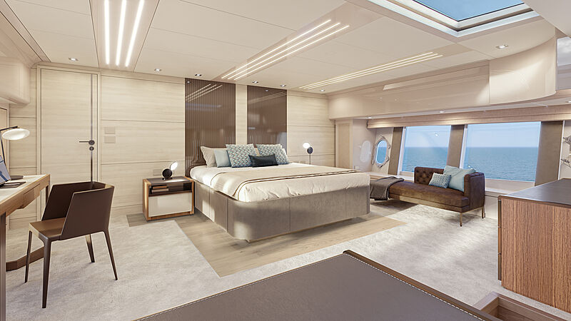 Monte Carlo Yachts MCY 105 Skylounge rendering