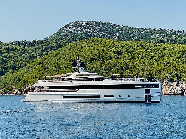 Club M yacht in Lopud, Croatia