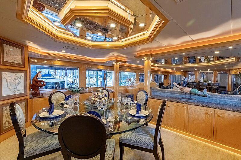 Sinbad yacht dining room