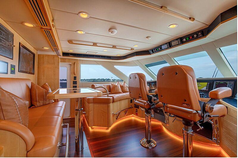 Sinbad yacht wheelhouse
