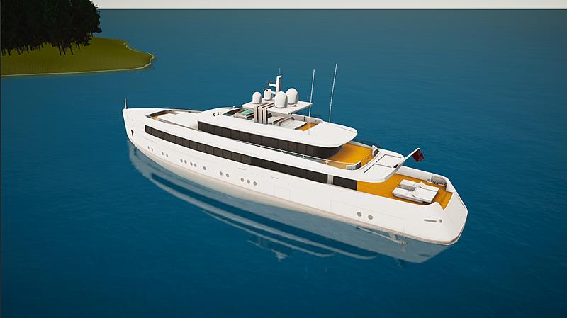 Najiba yacht in SYT 3D