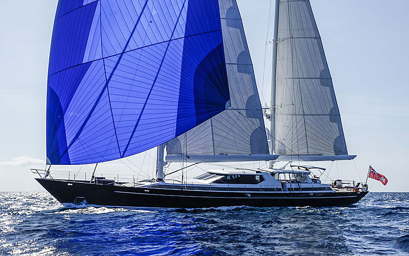 La Cattiva yacht sailling