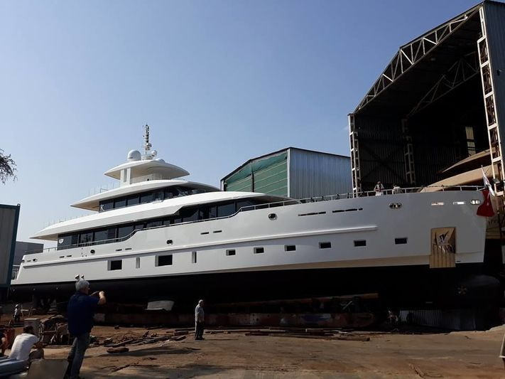 M/Y K launch at SES Yachts in Tuzla