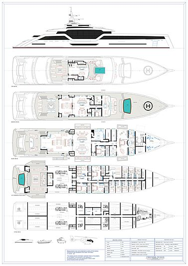 Vast 72m yacht concept by Christopher Seymour general arrangement