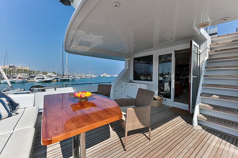 Happy Daze yacht aft deck
