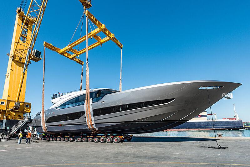 AB 100/192 yacht launch in Viareggio