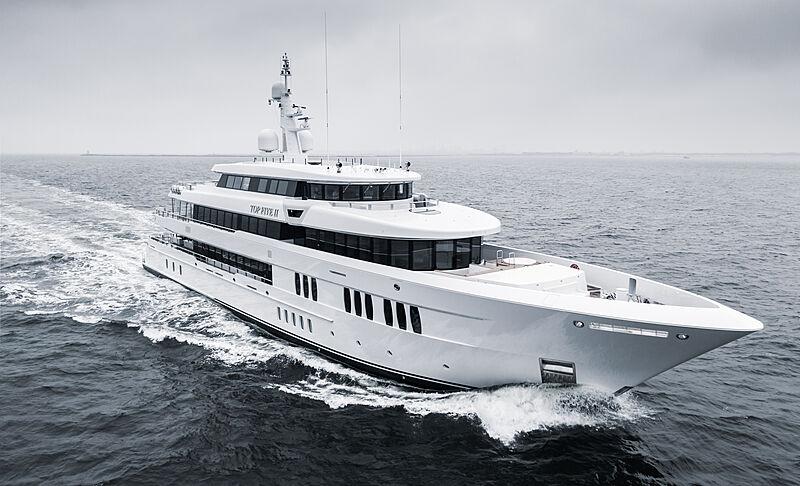 Top Five II yacht by Royal Hakvoort Shipyard sea trials
