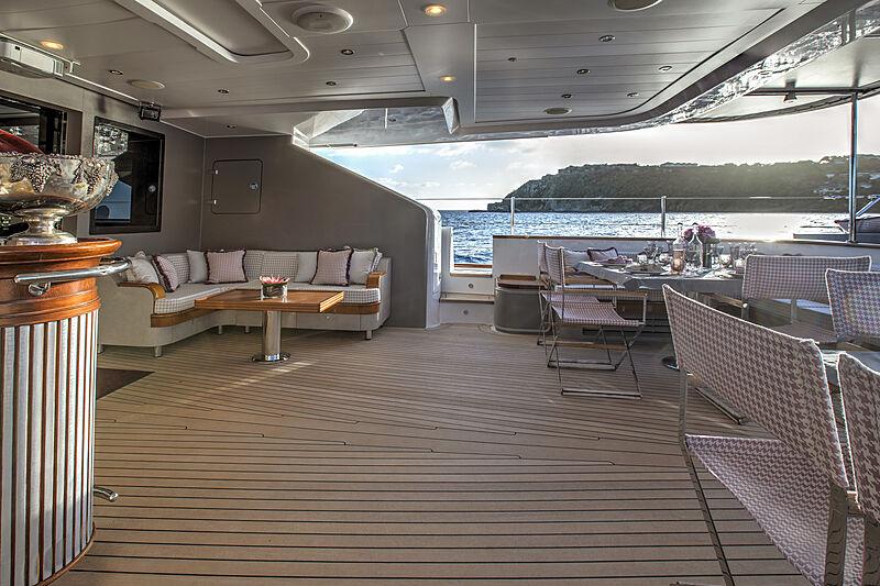 Blush yacht deck