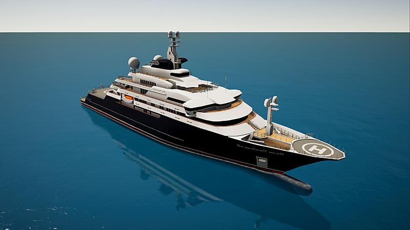 SYT 3D Octopus yacht
