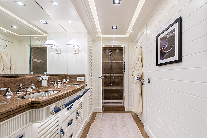 Forever One yacht bathroom