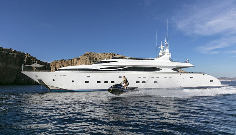 Paris A yacht at anchor
