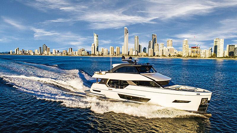 26 Meter Revolution yacht model running