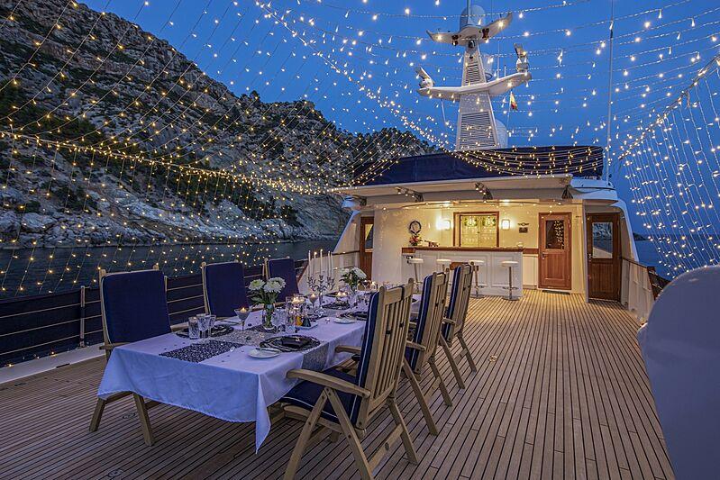 Monaco yacht flybridge