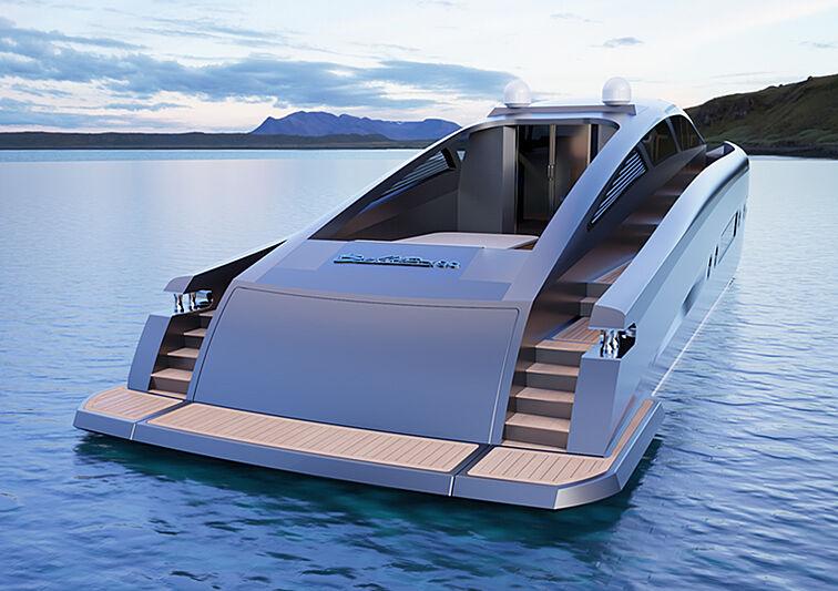 Bullet 80 yacht concept exterior design