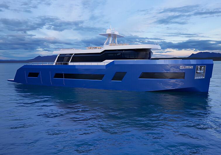 Elektra 90 yacht concept exterior design