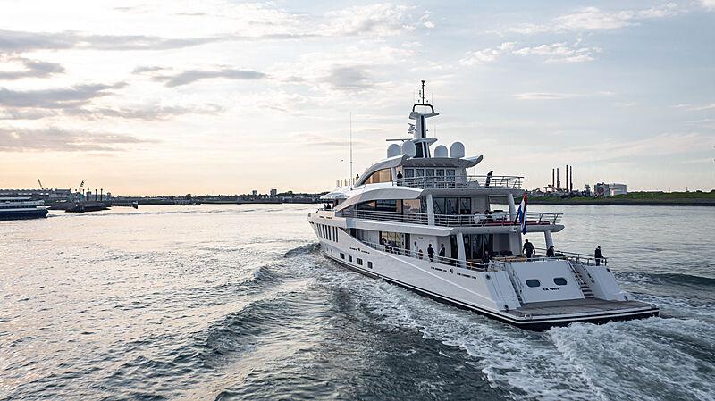 Moonstone yacht on sea trials