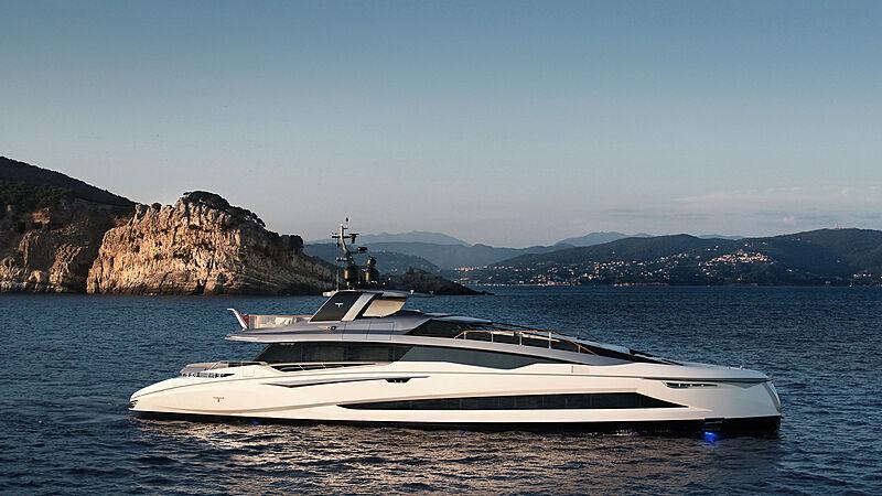 Tecnomar Evo 120 hull 582  yacht anchored